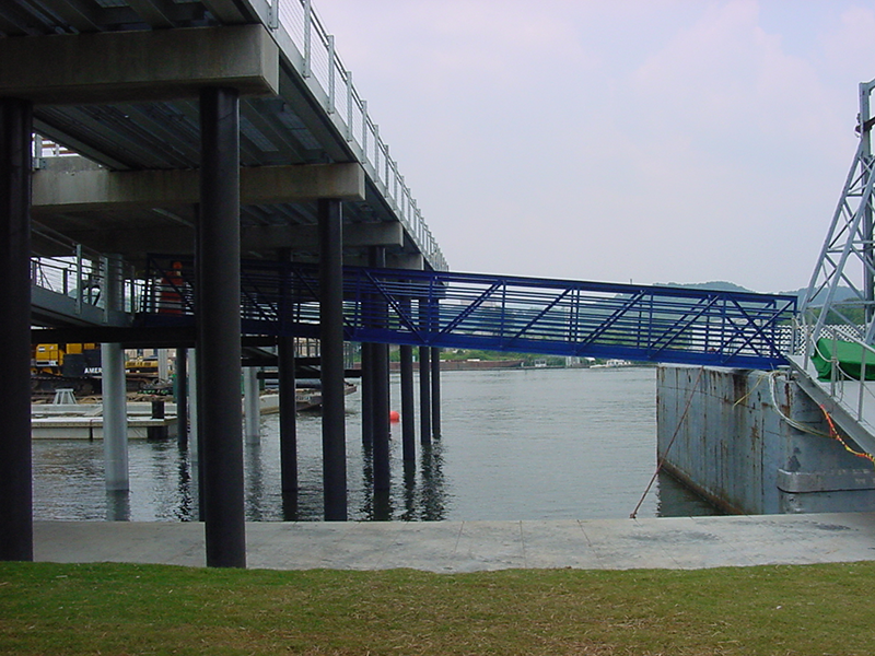 Gangway for Coca-Cola Stage